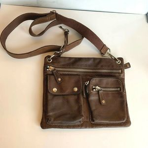 Fossil Leather Cross Body Purse Shoulder Bag